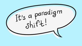 Palabra de moda de motivación del negocio de la nota de la etiqueta engomada stock de ilustración