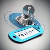 Palabra de paso protegida Foto de archivo libre de regalías