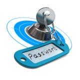 Palabra de paso protegida, seguridad del Internet Foto de archivo libre de regalías