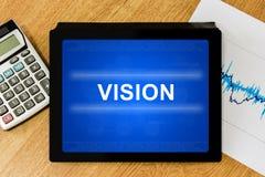 Palabra de Vision en la tableta digital Foto de archivo