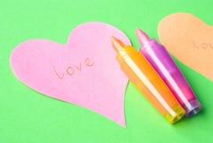 Palabra del amor Imágenes de archivo libres de regalías