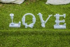 Palabra del amor Foto de archivo libre de regalías