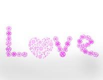 Palabra del amor Ilustración del Vector
