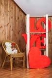 Palabra del amor con el oso agradable Fotografía de archivo libre de regalías