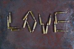 Palabra del amor del balas fotos de archivo