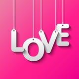 Palabra del amor por el Libro Blanco Fotos de archivo libres de regalías