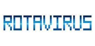 Palabra del arte del pixel del Rotavirus libre illustration