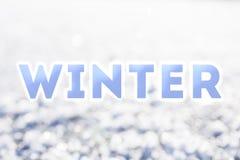 Palabra del azul del invierno Imágenes de archivo libres de regalías