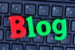 Palabra del blog en el teclado de ordenador Fotos de archivo libres de regalías