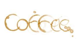 Palabra del café Imagen de archivo libre de regalías