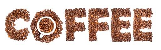 Palabra del café del concepto Imagen de archivo libre de regalías