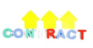 Palabra del contrato Imagen de archivo libre de regalías