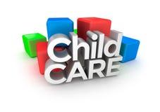 Palabra del cuidado de niños, concepto Imagen de archivo libre de regalías