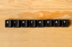 Palabra del cumpleaños Foto de archivo libre de regalías