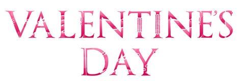 Palabra del día de tarjetas del día de San Valentín Imagen de archivo libre de regalías