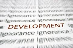 Palabra del desarrollo Imagenes de archivo