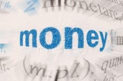 Palabra del dinero Imágenes de archivo libres de regalías