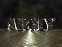 palabra del ejército del camuflaje 3D imagenes de archivo