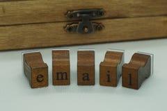 Palabra del email imágenes de archivo libres de regalías