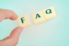 Palabra del FAQ Imagenes de archivo