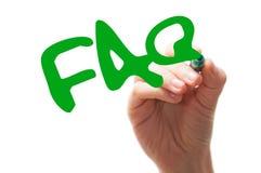 Palabra del FAQ Imagen de archivo