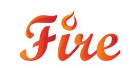 Palabra del fuego en pendiente
