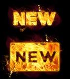 Palabra del fuego nueva stock de ilustración