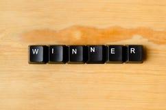 Palabra del ganador fotografía de archivo