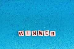 Palabra del ganador en piedra foto de archivo