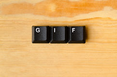 Palabra del GIF foto de archivo libre de regalías