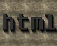 Palabra del HTML Fotos de archivo libres de regalías