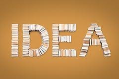 Palabra del IDEA dispuesta de los libros Imagenes de archivo