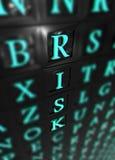 Palabra del riesgo 3d Imagen de archivo libre de regalías