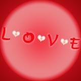 Palabra del rojo del diseño del amor Fotografía de archivo libre de regalías
