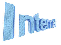 palabra del símbolo del Internet del arte del pixel 3d Fotos de archivo