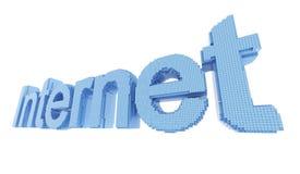 Palabra del símbolo del Internet del pixel Fotografía de archivo libre de regalías