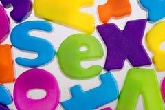 Palabra del sexo Fotos de archivo libres de regalías