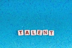 Palabra del talento en piedra imagen de archivo libre de regalías