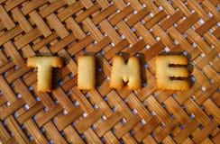 Palabra del tiempo en fondo Imagen de archivo