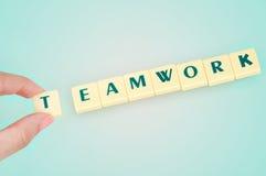Palabra del trabajo en equipo Fotos de archivo