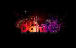 Palabra del vector de la danza Imagen de archivo