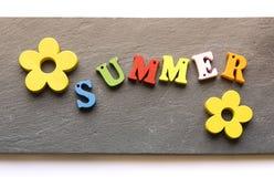 Palabra del verano imagenes de archivo