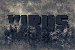 Palabra del virus Imagen de archivo libre de regalías