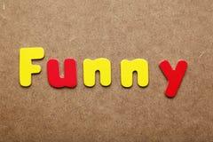 Palabra divertida Fotos de archivo