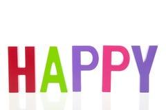 Palabra feliz Fotografía de archivo libre de regalías