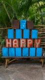 Palabra feliz Fotos de archivo libres de regalías