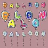 Palabra formada de los globos Foto de archivo libre de regalías