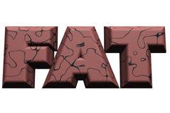 Palabra gorda 1 Foto de archivo libre de regalías