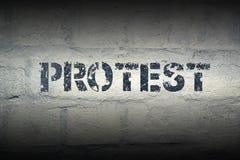 PALABRA GR de la protesta fotos de archivo libres de regalías