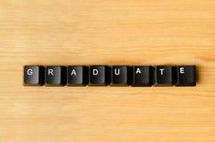 Palabra graduada Imagenes de archivo